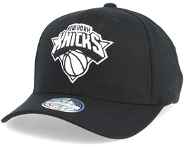 New York Knicks Black & White 110 Adjustable - Mitchell & Ness
