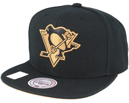 Pittsburgh Penguins TKO Twist Black Snapback - Mitchell & Ness