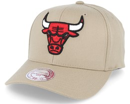 Chicago Bulls Team Colour Flex 110 Kahki Adjustable - Mitchell & Ness