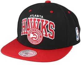 Atlanta Hawks Team Arch Black Snapback - Mitchell & Ness