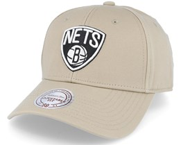 Brooklyn Nets Low Pro Strapback Sand Adjustable - Mitchell & Ness