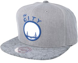 Golden State Warriors Grey Snapback - Mitchell & Ness