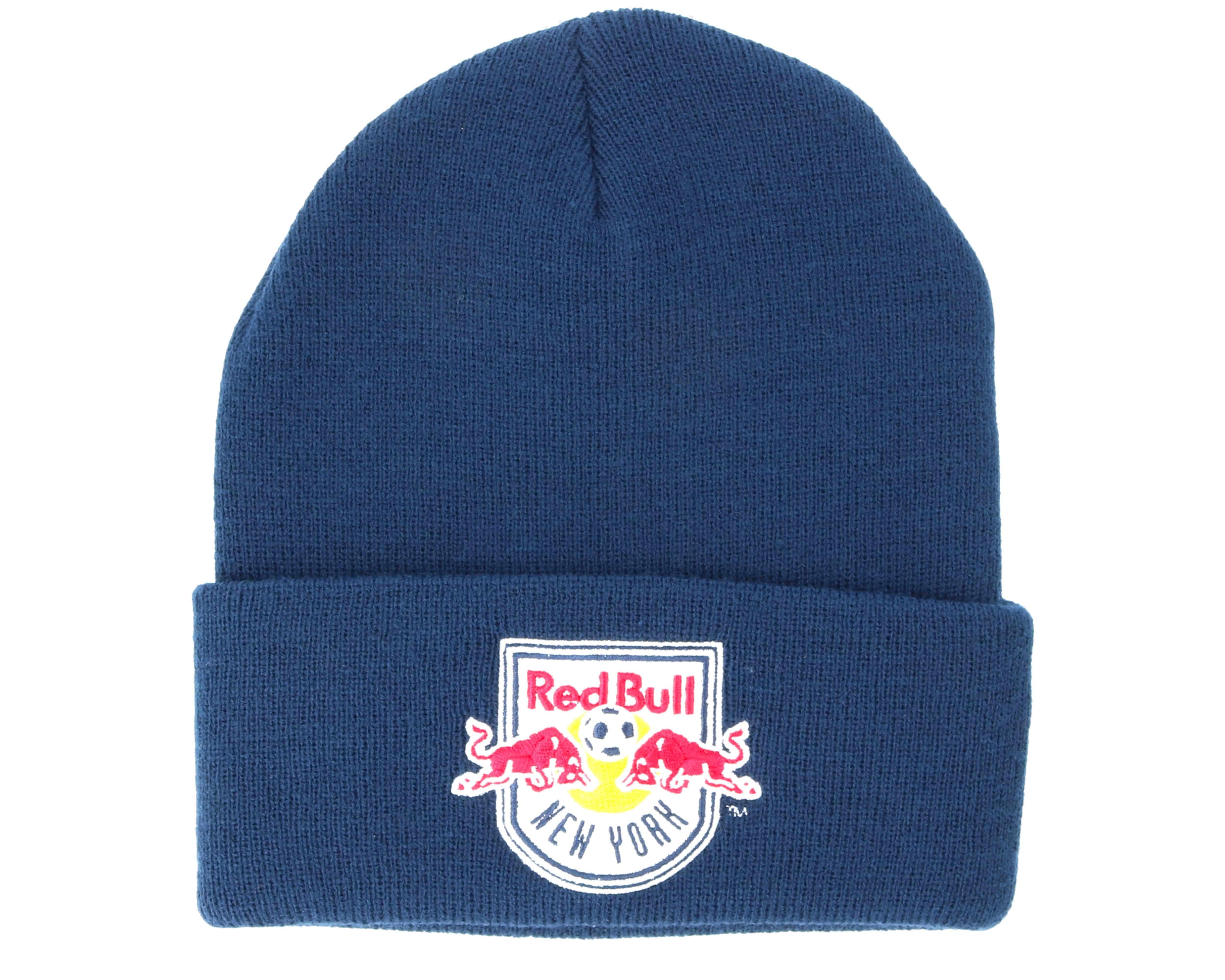 New York Red Bulls Team Logo Knit Navy Cuff - Mitchell   Ness ... 53e191deb2