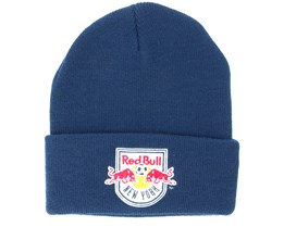 New York Red Bulls Team Logo Knit Navy Cuff - Mitchell & Ness