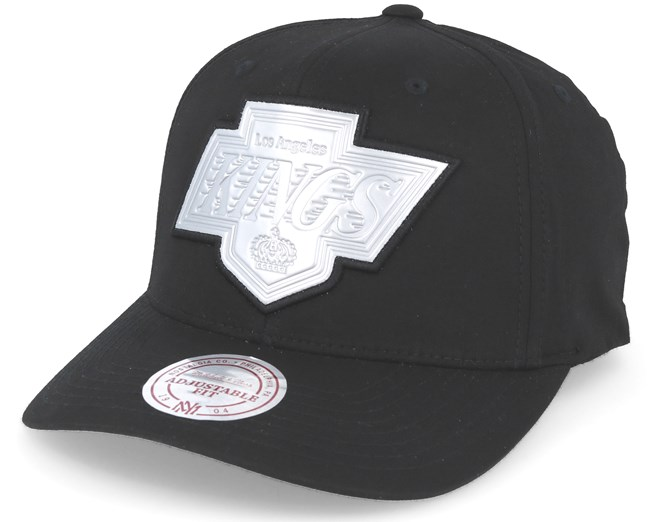 Los Angeles Kings Hyper 110 Flexfit Black Adjustable - Mitchell   Ness -  Bearded Man Apparel - Hatstore.es d6568030f11