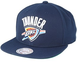 Oklahoma City Thunder Wool Solid/Solid 2 Navy Adjustable - Mitchell & Ness