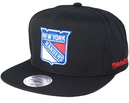New York Rangers Riptop Honeycomb Black Snapback - Mitchell & Ness
