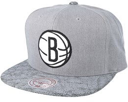 Brooklyn Nets Grey Snapback - Mitchell & Ness