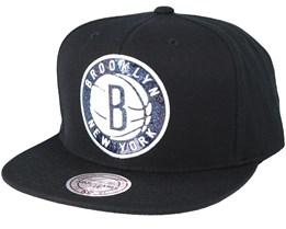 Brooklyn Nets Dark Hologram Snapback - Mitchell & Ness