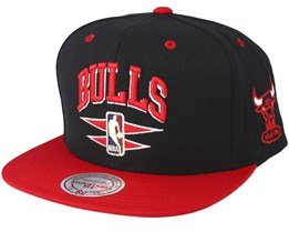 Chicago Bulls Double Diamond Black Snapback - Mitchell & Ness