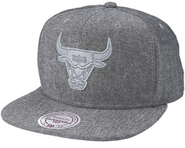 Chicago Bulls Italian Washed Grey Snapback - Mitchell & Ness