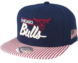 Chicago Bulls USA Navy Snapback - Mitchell & Ness