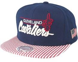 Cleveland Cavaliers USA Navy Snapback - Mitchell & Ness