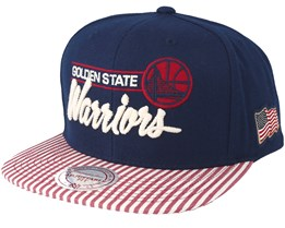 Golden State Warriors USA Navy Snapback - Mitchell & Ness