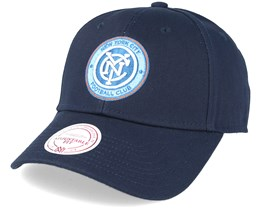 New York City FC Team Logo Low Pro Strapback Navy Adjustable - Mitchell & Ness