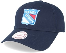 New York Rangers Team Logo Low Pro Strapback Navy Adjustable - Mitchell & Ness