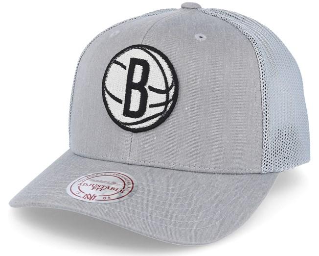 Brooklyn Nets Washout 110 Flexfit Grey trucker Adjustable - Mitchell   Ness  caps  9061dfeac