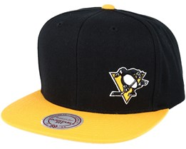 Pittsburgh Penguins Little Logo Black/Yellow Snapback - Mitchell & Ness
