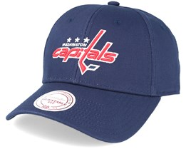 Washington Capitals Team Logo Cotton Low Pro Navy Adjustable - Mitchell & Ness