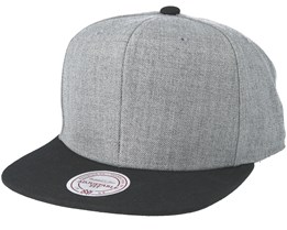 Blank Grey/Black Snapback - Mitchell & Ness