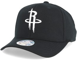 Houston Rockets Black & White 110 Adjustable - Mitchell & Ness