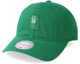 Boston Celtics Small Jersey Dad Hat Green Adjustable - Mitchell & Ness