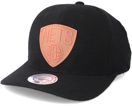 Brooklyn Nets Gum Black Snapback - Mitchell & Ness