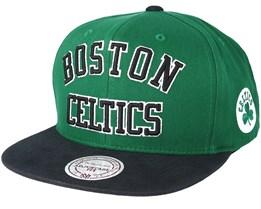 Boston Celtics Wordmark Green Snapback - Mitchell & Ness