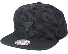 Chicago Bulls Combat Camo Black/Charcoal Snapback - Mitchell & Ness