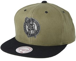 Boston Celtics Terrain Olive Snapback - Mitchell & Ness