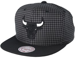 Chicago Bulls Shell Black Snapback - Mitchell & Ness