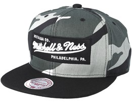 Box Logo Grey Camo Snapback - Mitchell & Ness