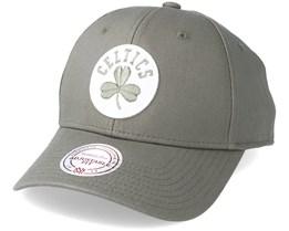 Boston Celtics Team Logo Low Pro Olive Adjustable - Mitchell & Ness