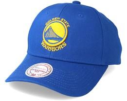 Golden State Warriors Team Logo Low Pro Blue Adjustable - Mitchell & Ness