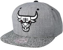 Chicago Bulls Elephant Grey Snapback - Mitchell & Ness