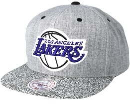 Los Angeles Lakers Elephant Grey Snapback - Mitchell & Ness
