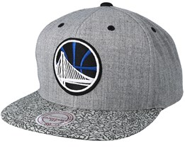 Golden State Warriors Elephant Grey Snapback - Mitchell & Ness