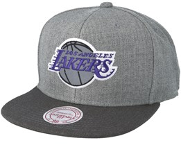 Los Angeles Lakers Heather Reflective Grey Snapback - Mitchell & Ness