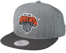 New York Knicks Heather Reflective Grey Snapback - Mitchell & Ness
