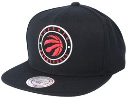 Toronto Raptors Twill Circle Black Snapback - Mitchell & Ness