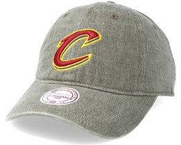Cleveland Cavaliers Blast Wash Slouch Strapback Grey Adjustable - Mitchell & Ness