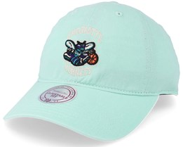 Charlotte Hornets Blast Wash Slouch Strapback Blue Adjustable - Mitchell & Ness