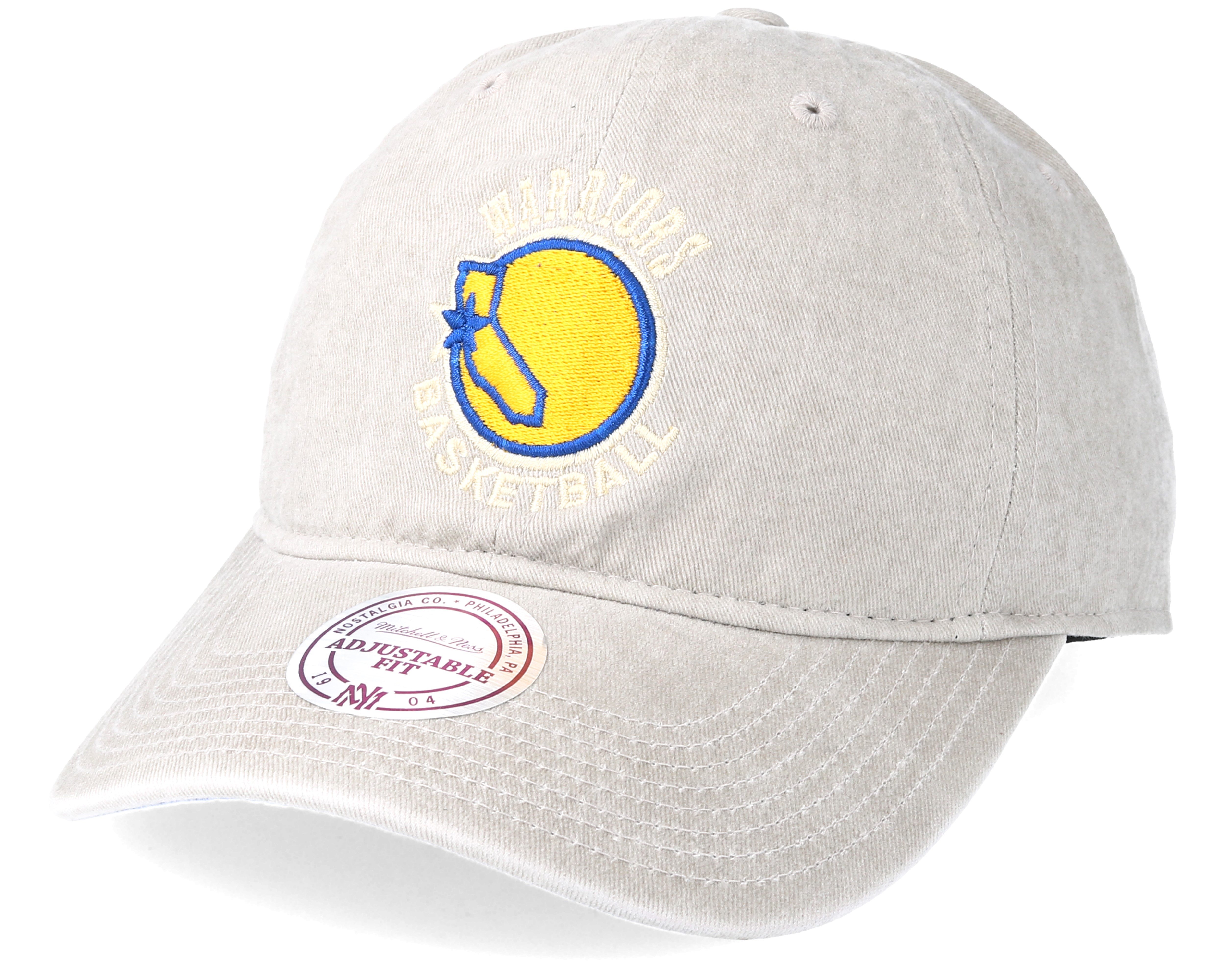 cde0f5cc521 Product information Golden State Warriors Blast Wash Slouch Strapback Grey  Adjustable - Mitchell   Ness