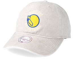 Golden State Warriors Blast Wash Slouch Strapback Grey Adjustable - Mitchell & Ness