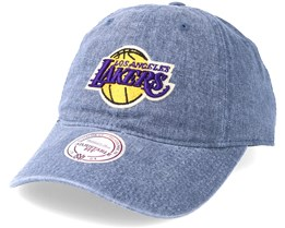 Los Angeles Lakers Blast Wash Slouch Strapback Blue Adjustable - Mitchell & Ness