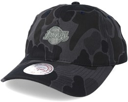 Los Angeles Lakers Slouch Grey Camo Strapback Adjustable - Mitchell & Ness