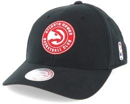 Atlanta Hawks Flexfit 110 Low Pro Black Adjustable - Mitchell & Ness