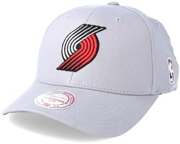 Portland Trail Blazers Flexfit 110 Low Pro Grey Adjustable - Mitchell & Ness