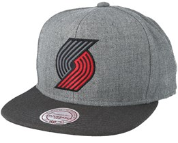 Portland Trail Blazers Heather Reflective Grey Snapback - Mitchell & Ness