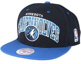 Minnesota Timberwolves Team Arch Snapback - Mitchell & Ness